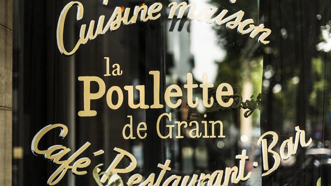 Détail de la devanture - La Poulette de Grain, Paris