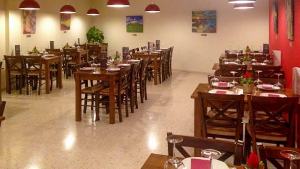 A la Brasa, Gastronomía y Arte Vista de la sala