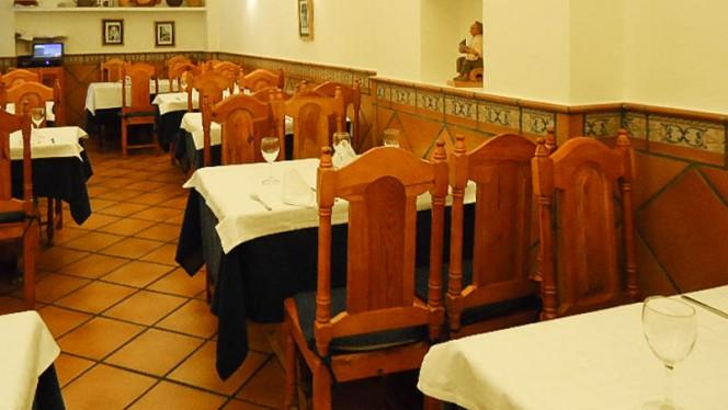 Vista mesa - El Paisano, Madrid