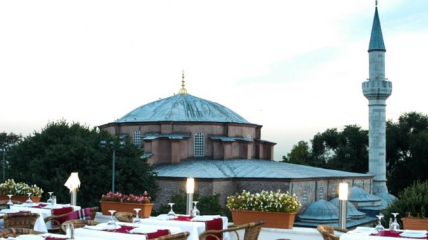 Köşk 2 Cafe & Restaurant terrace with view