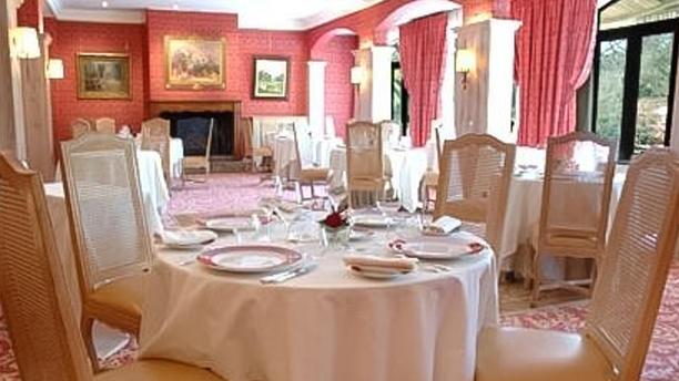 Domaine d'Auriac La salle à manger, la cheminée, les décorations de restaurant Domaine d'Auriac