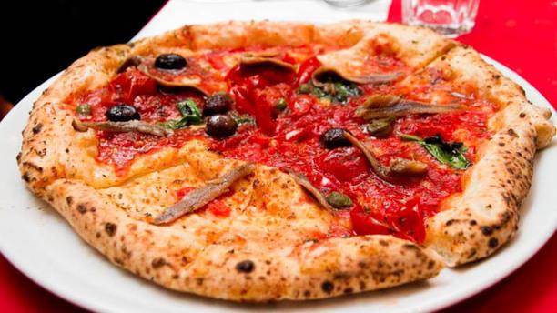 14 Rosso Pizza con acciughe