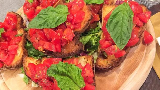 La bruschetta Bruscheta pomodoro e basilico