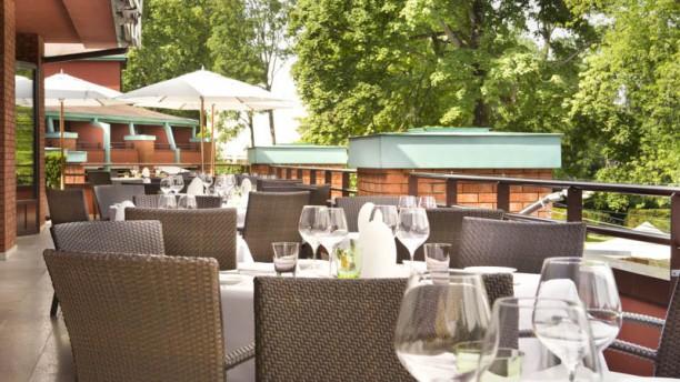 Le Loti - La Réserve Genève Vue de la terrasse