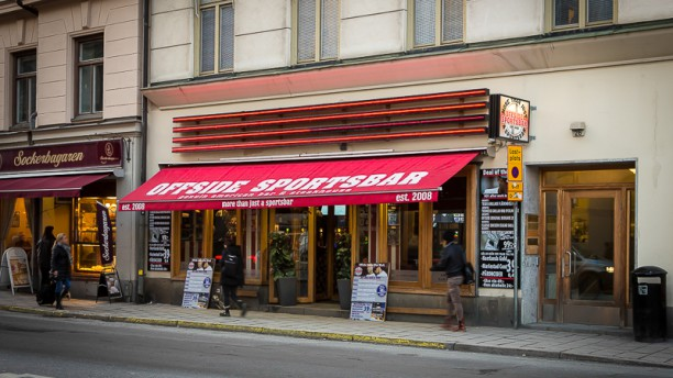 Offside Sportsbar Kungsholmen i Stockholm - Restaurangens meny ...