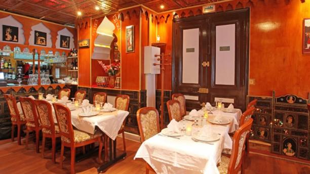 Taj Mahal Vue de la salle du restaurant