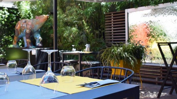 Silk Brasserie - Hôtel Sofitel Vue de la terasse