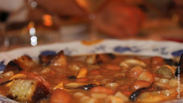 Osteria Romana  di Simmi Zuppa di Cozze  con fagioli Borlotti