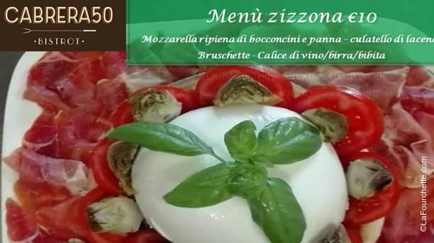 Cabrera 50 Bistrot Menù zizzona