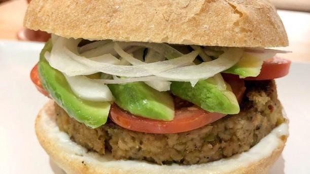 Melocotón vegan burger Sugerencia del chef