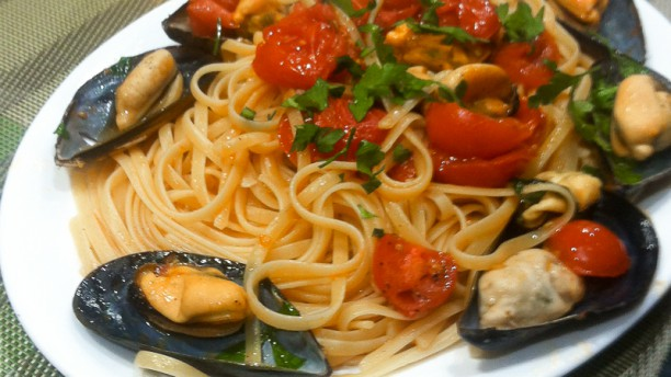 Da Saveria espaghetti con mejillones
