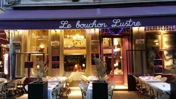 restaurant le bouchon lustr lyon 69002 h tel de. Black Bedroom Furniture Sets. Home Design Ideas