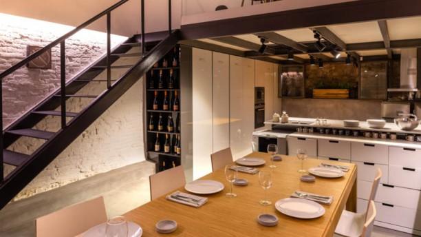 The little Kitchen Vista de la sala