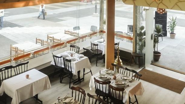 Restaurant El Walisse vue salle principale d'en haut