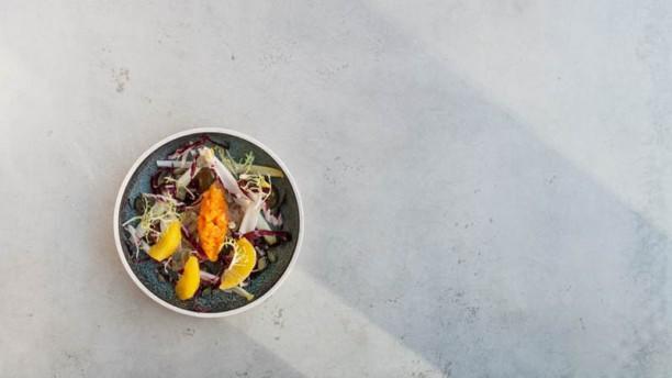 Spiselauget Ande og kanin terrin, græskar, foie gras, kål og appelsin