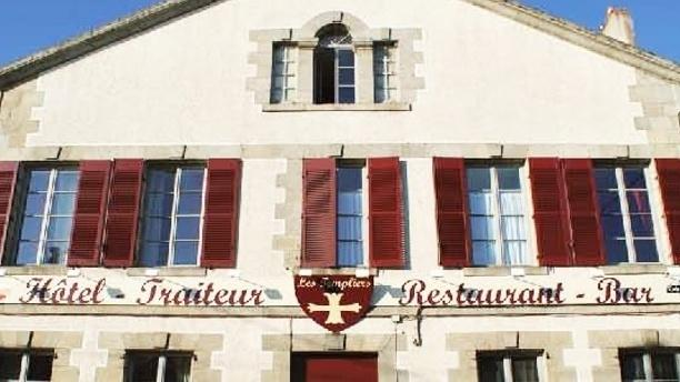 Auberge des Templiers Façade du restaurant