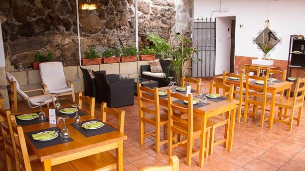 Restaurante La Casona del Vino Terraza cubierta con aire acondicionado