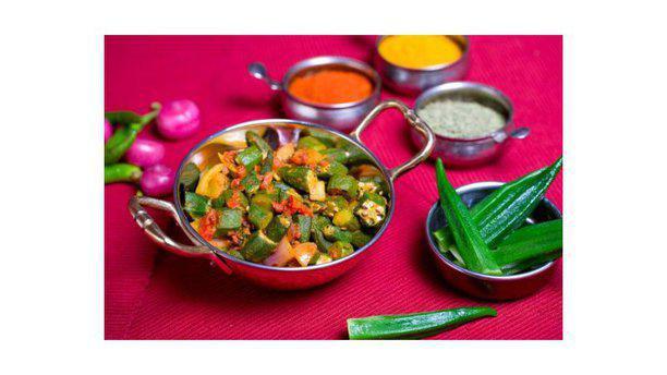 Sultan Village Spice nostro piatto vegetariano(okra)