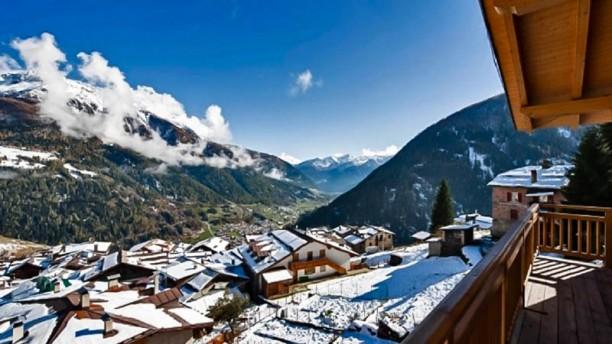 San Rocco La vista di montagna nevata