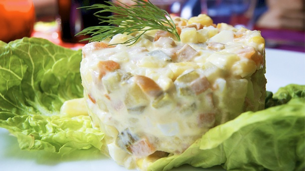 Chez Mademoiselle salade olivier