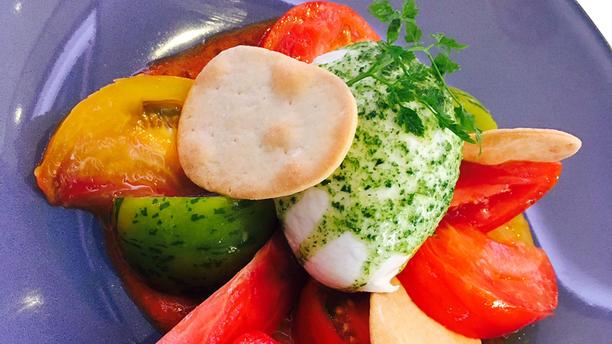 Le Transat Tomates de couleurs, burrata crémeuse