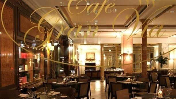 Café Gran Vía Vista interior