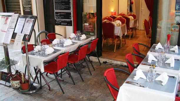 La Tablée Provençale La terrasse couverte