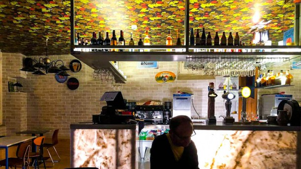 Café Belga Vista da sala