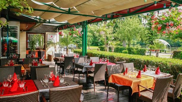 Restaurant La Maison Carrée vue de la terrasse