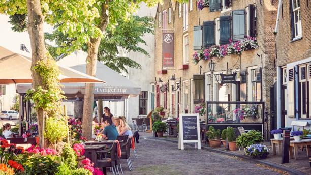 Brasserie 't Vingerling Middelharnis terras