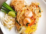The noodles thai cuisine