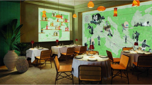 Paradiso - Hôtel Barrière Le Majestic Salle de restaurant intérieur