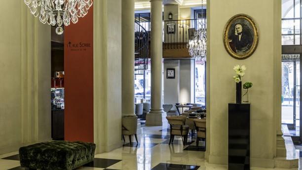 1 T rue Scribe - Maison de thé, Lounge bar - Hôtel Scribe Paris Maison de thé vue intérieure - Hotel Scribe Paris
