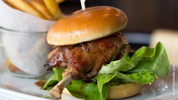 Grand Cafe Field's duck confit burger