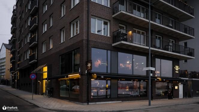 Restaurangens front - Texas Longhorn Hornsbergs Strand, Stockholm