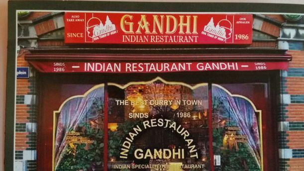 Gandhi Indiaas Specialiteiten Restaurant voorkant