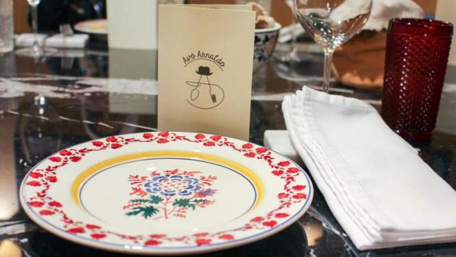 Detalhe da mesa - Avô Arnaldo, Matosinhos
