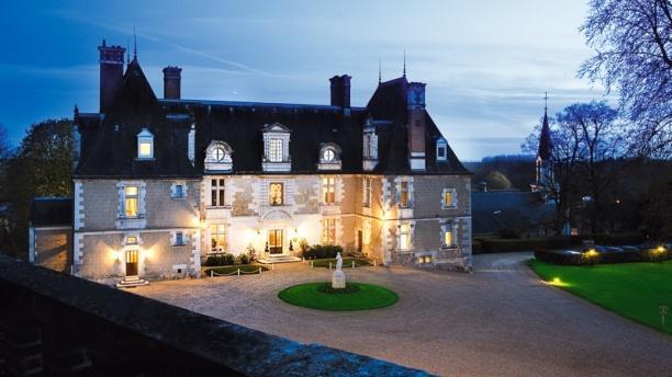 Château de Noizay Chateau vue de nuit