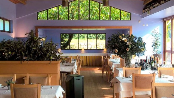 Restaurante Parque da Aguda Vista do interior