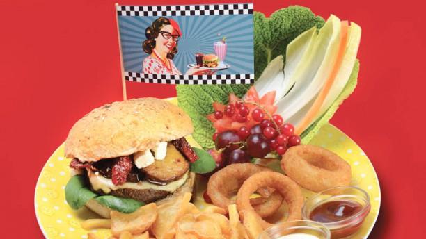 1950 American Diner - Livorno hamburguesa