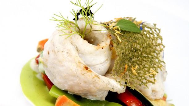 Alla Casasola Filetto di branzino con le verdurine croccanti