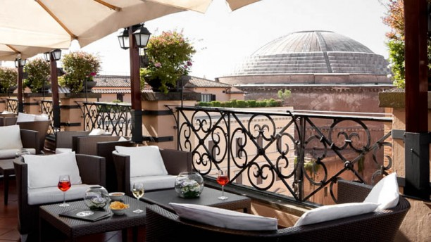 Minerva Roof Garden In Rome Restaurant Reviews Menu And