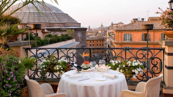terrazza con vista - Minerva Roof Garden, Rome