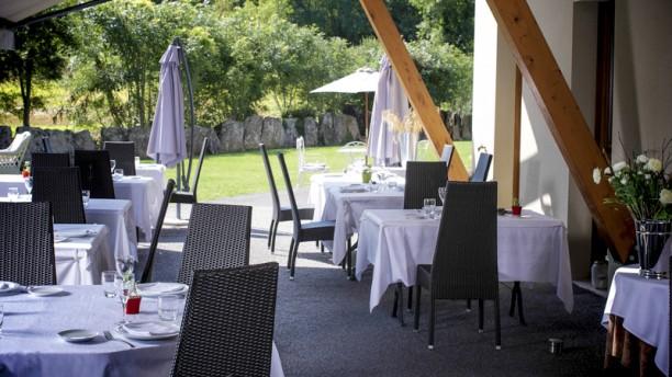Aux Berges du Rhône la terrasse