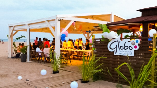 Globo Gastronòmic Beach Club Vista terraza