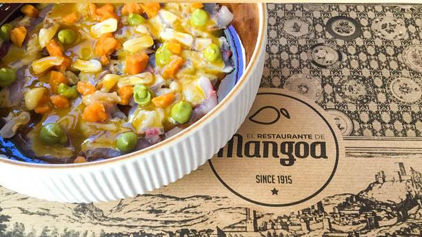 El Restaurante de Mangoa Tiraditos de jureles con mangos de la Axarquía