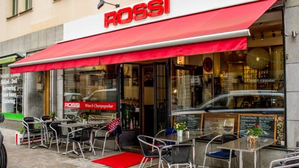 Rossi vin & champagnebar entrance