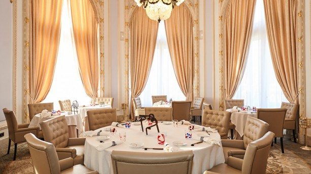 restaurant h l ne darroze at hotel maria cristina saint. Black Bedroom Furniture Sets. Home Design Ideas