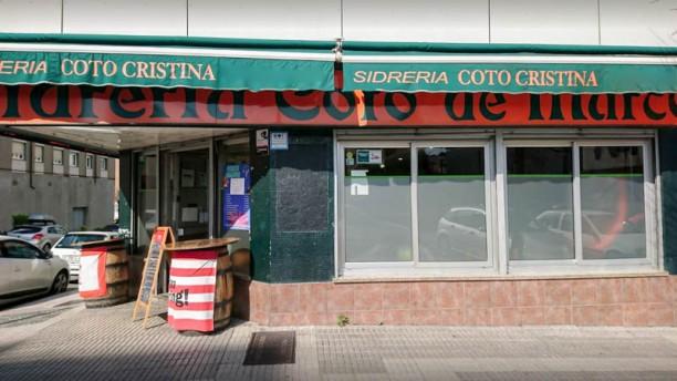 Sidrería Nuevo Coto Cristina Vista entrada