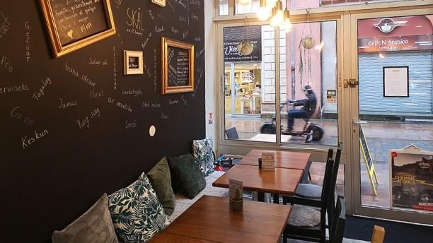 Café Fika Vue de la salle du haut